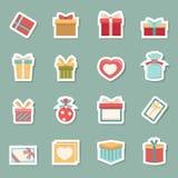 Значки подарочной коробки Стоковые Изображения RF