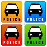 Значки полиции иллюстрация вектора