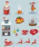 Значки праздника рождества и Нового Года Стоковые Изображения