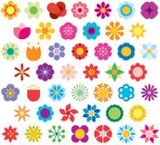 Значки представляя цветки иллюстрация штока