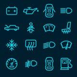 Значки приборной панели автомобиля Стоковое Изображение RF