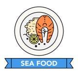 Значки продукта моря Стоковые Фото