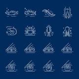 Значки продукта моря Стоковые Фотографии RF