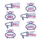 Значки продажи вектора бесплатная иллюстрация