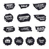Значки продажи Символы специального предложения Стоковые Изображения RF