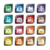 Значки продуктов цифров Стоковое Фото