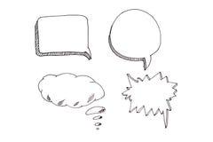 Значки пузырей речи установили с местом для вашего текста Стоковое фото RF