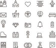 Значки плана свадьбы и влюбленности Стоковая Фотография RF