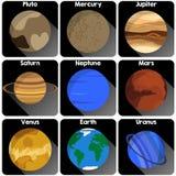 Значки планеты Стоковое Изображение RF