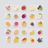 значки плодоовощей с тенью также вектор иллюстрации притяжки corel Стоковое Изображение