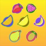 Значки плодоовощ Стоковая Фотография