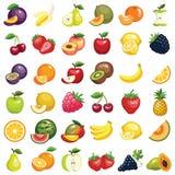 Значки плодоовощ Стоковое Изображение RF