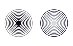 Значки радиолокатора вектора, Monochrome круги, изолированные иллюстрации бесплатная иллюстрация