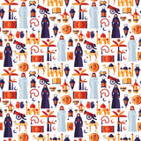 Значки Рамазана Kareem установили аравийского плоского дизайна Стоковые Фото