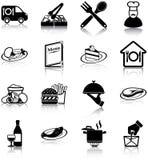 Значки ресторана Стоковые Изображения