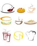 Значки ресторана стоковое изображение rf