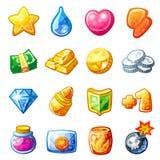 Значки ресурса шаржа для пользовательского интерфейса игры бесплатная иллюстрация