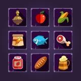 Значки ресурса для игр Еда и зелья бесплатная иллюстрация