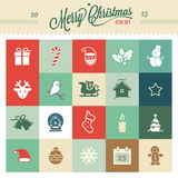 Значки рождества - иллюстрация Стоковое Изображение RF