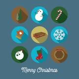 Значки рождества/рождественская открытка Стоковое фото RF