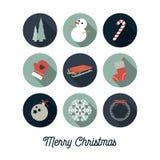 Значки рождества/рождественская открытка Стоковое Изображение