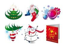 Значки рождества Стоковые Фото
