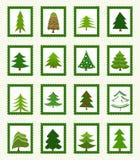 Значки рождественских елок иллюстрация штока