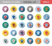 Значки рубашки футбола иллюстрация вектора