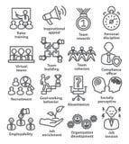 Значки руководства бизнесом в линии стиле Пакет 21 Стоковые Изображения RF