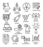 Значки руководства бизнесом в линии стиле Пакет 29 бесплатная иллюстрация
