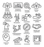 Значки руководства бизнесом в линии стиле Пакет 27 Стоковое Фото