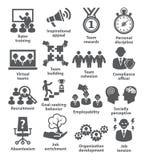 Значки руководства бизнесом Пакет 21 Стоковые Фото