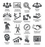 Значки руководства бизнесом Пакет 27 Стоковые Изображения RF