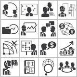 Значки руководства бизнесом Стоковое фото RF