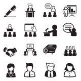 Значки руководства бизнесом иллюстрация вектора