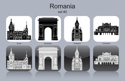 Значки Румынии Стоковые Фото