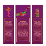 Значки садовничая електричюеских инструментов бесплатная иллюстрация
