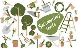 Значки садовых инструментов Стоковая Фотография