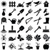 Значки садового инструмента Стоковое фото RF