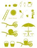 Значки сбора Яблока Стоковые Фотографии RF