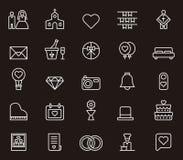 Значки свадьбы и влюбленности Стоковые Фотографии RF