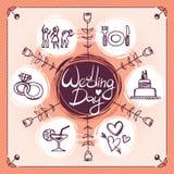 Значки свадьбы Стоковое Изображение RF