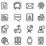 Значки связи Стоковые Изображения RF