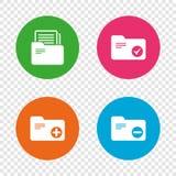 Значки связывателей бухгалтерии Добавьте символ документа иллюстрация штока