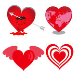 Значки сердца, сердца вектора установили, валентинки иллюстрация вектора
