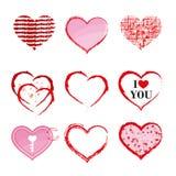 Значки сердца Стоковая Фотография