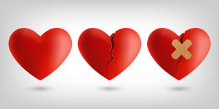 Значки сердца Стоковые Фотографии RF