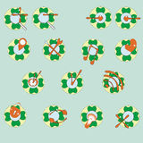 Значки сети в цвете бесплатная иллюстрация