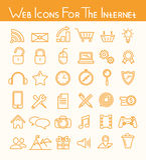 Значки сети для интернета Стоковые Фото