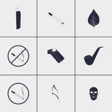 Значки сигареты Стоковое фото RF